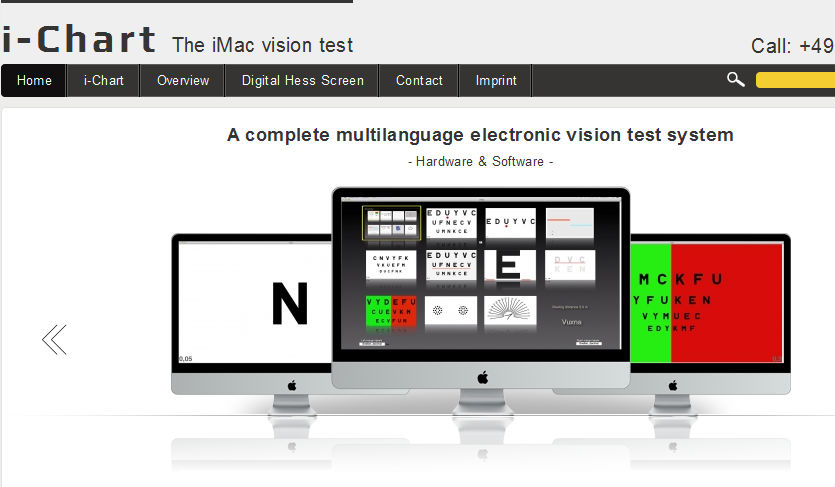 iChart - The iMac Visiontest